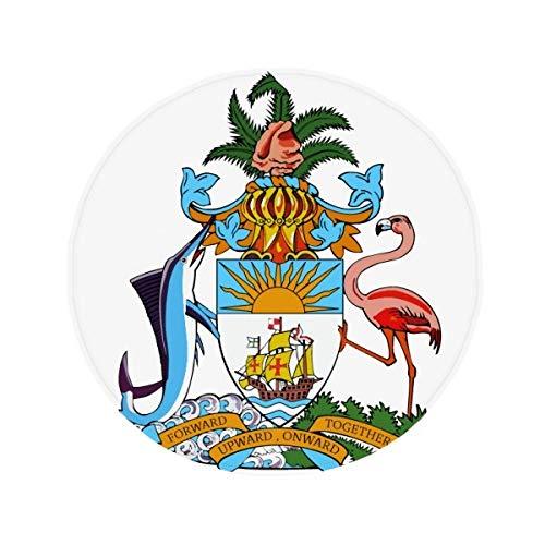 DIYthinker Nassau Bahamas nationaal embleem antislip vloer huisdier mat ronde badkamer woonkamer keuken deur 80Cm cadeau