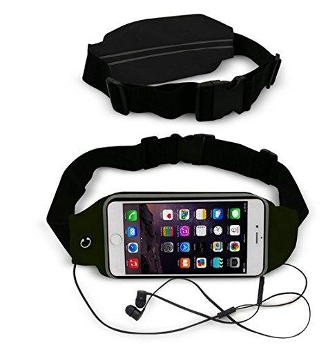 Theoutlettablet® Gürteltasche für Laufen, Joggen, schweißabweisend und reflektierend, mit Tasche für Smartphone LG Nexus 5X, Schwarz