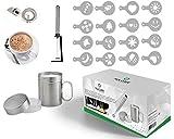 hLix CAFE - Kit Di 20 Pezzi Comprendente un Montalatte / Mixer Per Cocktail / Frusta Per U...