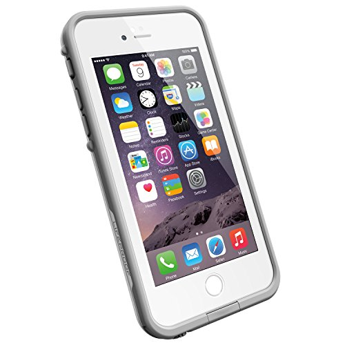 "LifeProof FRĒ iPhone 6 ONLY Waterproof Case (4.7"" Version) - Retail Packaging - AVALANCHE (BRIGHT WHITE/COOL GREY)"