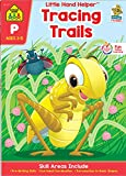 School Zone - Tracing Trails Workbook - Ages 3 to 5, Preschool, Pre-Writing, Intro to Shapes, Alphabet, Numbers, and More (School Zone Little Hand Helper™ Book Series)