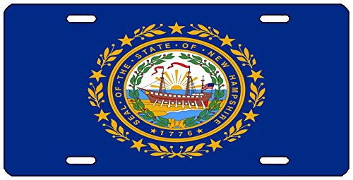 Rogue River Tactical New Hampshire State Flag License Plate Novelty Auto Car Tag Vanity Gift NH