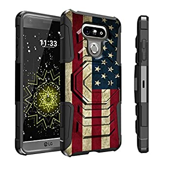 Untouchble Case for LG G6 Case LG G6 Plus Holster Case [Max Alpha Holster]- [Swivel Holster] Heavy Duty Dual Layer Hybrid Case with Kickstand and Belt Clip - Vintage America Flag