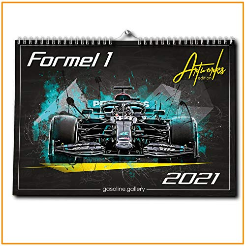 gasoline.gallery Formel 1 Kalender 2021 | DINA3 | Wandkalender Formel1 | ca. 40x30 | Artwork Edition