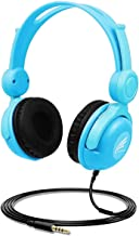 Kids Headphones - with 85dB Volume Hearing Protection Function, Stereo Tangle-Free,3.5MM Jack Wire Cord On-Ear Headset for...