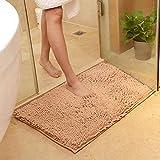 Cuarto de baño puerta absorbente piso alfombra dormitorio antideslizante pie pad baño alfombra alfombra alfombra alfombra baño alfombra alfombra de cocina marrón 40x60cm