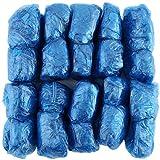 Banbie8409 100 Pz/Set Copriscarpe in plastica USA e Getta Camere Pioggia Esterna Impermeabile-Blu-