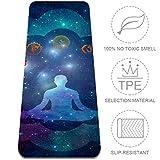 TIZORAX Esterilla de viaje de alta densidad para yoga multiusos con correa de transporte y bolsa (72' x 24' x 6mm) meditación, multicolor, 32x72 in-80x183 cm
