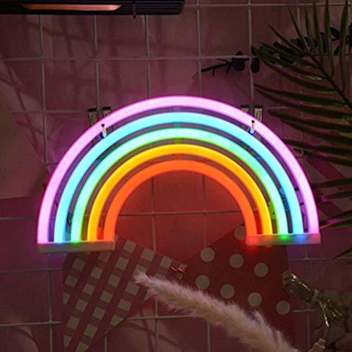 Regenbogen LED Leuchtreklamen Kunst Bunte Neon Lampe Nachtlichter USB-betriebene Wand Dekor Innenwanddekor für Home Party Jubiläum Valentinstag Geschenke Schlafzimmer Dekoration