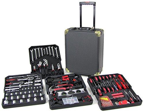 Carparts-Online 31842 Profi Werkzeugtrolley Werkstattkoffer Kasten gefüllt 186 teilig