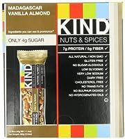KIND  ナッツ&スパイス バー (Madagascar Vanilla Almond)  (Pack of 12) (海外直送品)