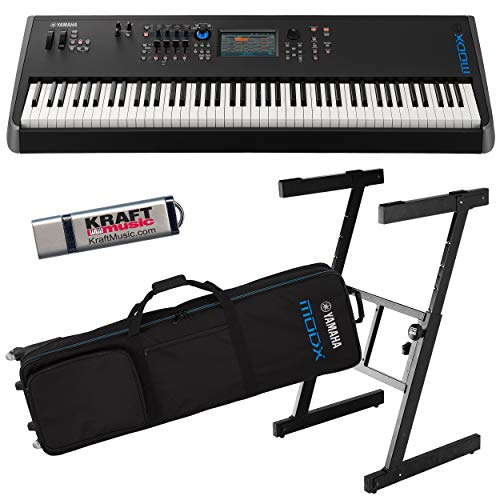 Why Choose Yamaha MODX8 Synthesizer with Yamaha Gig Bag with Wheels, Z-Frame Stand and Flash Drive