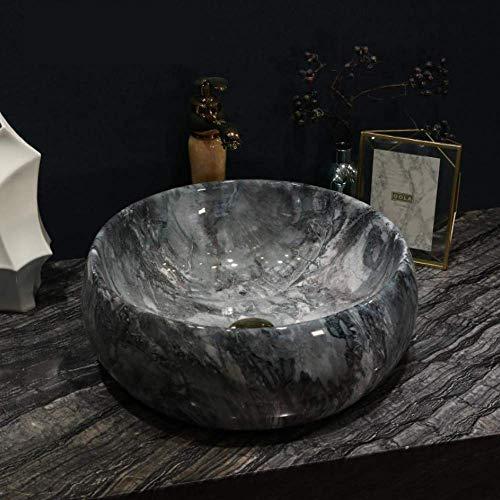 Grifos Gris Baño Aseo de Europa del arte del estilo de la vendimia lavabo encimera de cerámica Lavabo Baño lavabos de porcelana de la vendimia conjunto del grifo del fregadero Para el hogar, baño, fre
