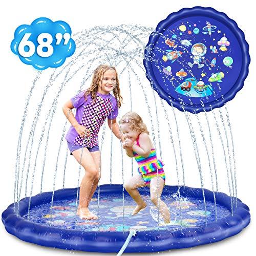 Desuccus Sprinkler for Kids, 3-in-1 Splash Pad Wading Pool Sprinkler & Splash Inflatable Water Toys...