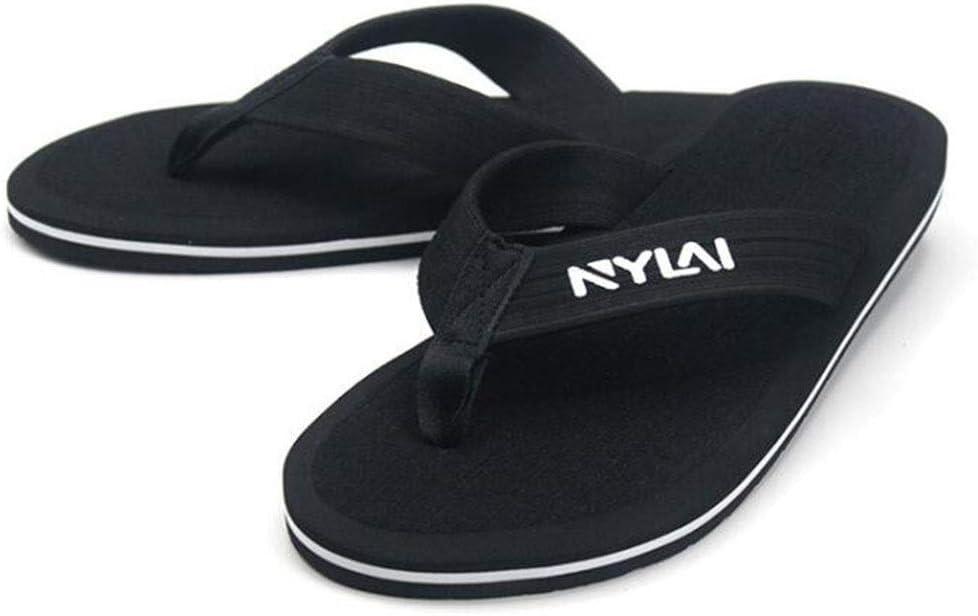 GJ Super Size Men's Flip-Flops Beach Anti-Slip Sandals and Slippers (Color : A4, Size : XXXXL)