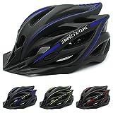 Casco de bicicleta MTB MTB MTB Mountain Road bicicleta MTB casco de bicicleta MTB casco ajustable para adultos (azul + negro)