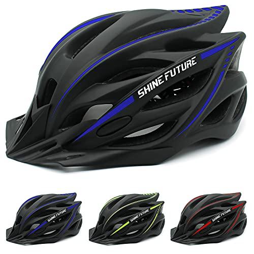 Fahrradhelm MTB Mountainbike Helm Mountain Road Fahrrad MTB Helme Einstellbare Fahrradhelme für Erwachsenen (Blue+Black)