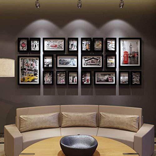 Woonkamer massief houten fotowand/slaapkamer fotowand/groot formaat fotolijst wandcombinatie wand