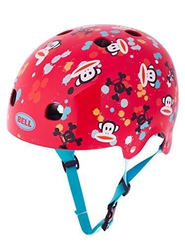 Bell Kinder Fahrradhelm Segment JR, Red Paul Frank Paint Ball, 48-53 cm
