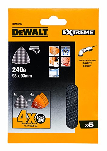 Dewalt DTM3095-QZ Schleifgitter 93x93mm K240 5Stk, 6 Stück