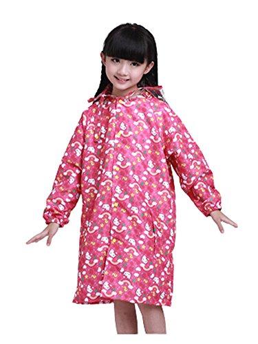 Korean Lovely bébé imperméable Mode enfants pluie Chat Rose S