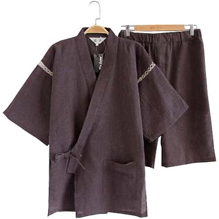 Black Temptation Kimono Jinbei camisa y pantalón japonés ...