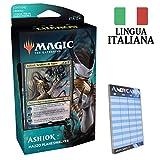 Andycards Mazzo Ashiok Blu Nero - Theros Oltre la Morte - 60 Carte Magic in Italiano con Planeswalker + 2 Buste + Segnapunti