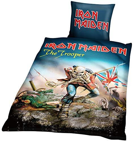 Unbekannt Iron Maiden BLIM1, Baumwolle, 135 x 200 x 1 cm Bettwäsche, Mehrfarbig, 35 x 27 x 3.5 cm, 2-Einheiten