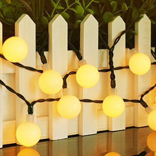 Btfarm Guirnalda Luces Exterior Solar Cadena de Luces, 8M 80 LED IP65 luces led solares para exteriores, 8 Modos led solar jardin Decoracion para Exterior Jardin, Casas, Boda, Fiesta, Festival