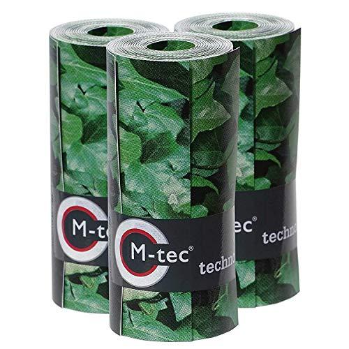 M-tec Print ® Bedruckte PVC Zaunstreifen Efeu Hecke: Sichtschutzstreifen für 9 Reihen im Zaunfeld. inkl. 18 Klemmschienen (9) - SIE KAUFEN Hier DIREKT BEIM Hersteller -