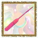 Masajeador de vibración delgado portátil - Aguja de silicona de artesanía fina superior para hombres (Rosado)