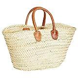 ORIGINAL Ibiza Tasche Korbtasche Strandtasche Cestino 50cm groß | Marokkanische Palmblatt...