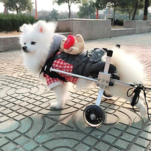 Hondenrolstoel, hond rolstoelen 4 Wheel Rear support lichtgewicht rolstoel Cat wagen loopframe met wielen voor de meeste honden 0-50 kg Dog Wheelchair Small