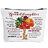To My Granddaughter Gifts Graduation Gifts for Granddaughter Birthday Gifts Back to School Gift Granddaughter Gifts from Grandma, Wedding Gifts for Granddaughter Makeup Bag-How Special You are to Me
