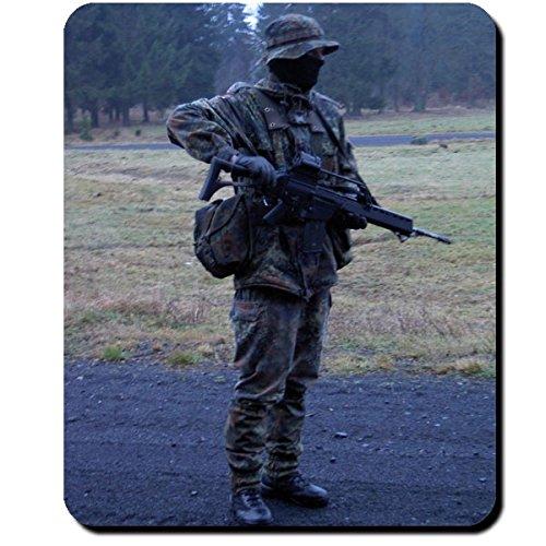 Der Gruppenführer Bundeswehr Soldat Ausbilder Deutschland Flecktarn Uniform Ausrüstung Kompanie Zug Grundausbildung BW Bund Armee - Mauspad Mousepad Computer Laptop PC #9767