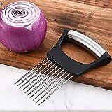 TARTIERY - Porta-cipolle in acciaio INOX per tagliare cipolle, pomodori, patate, verdure, chopper, frutta, taglierino, utensili da cucina