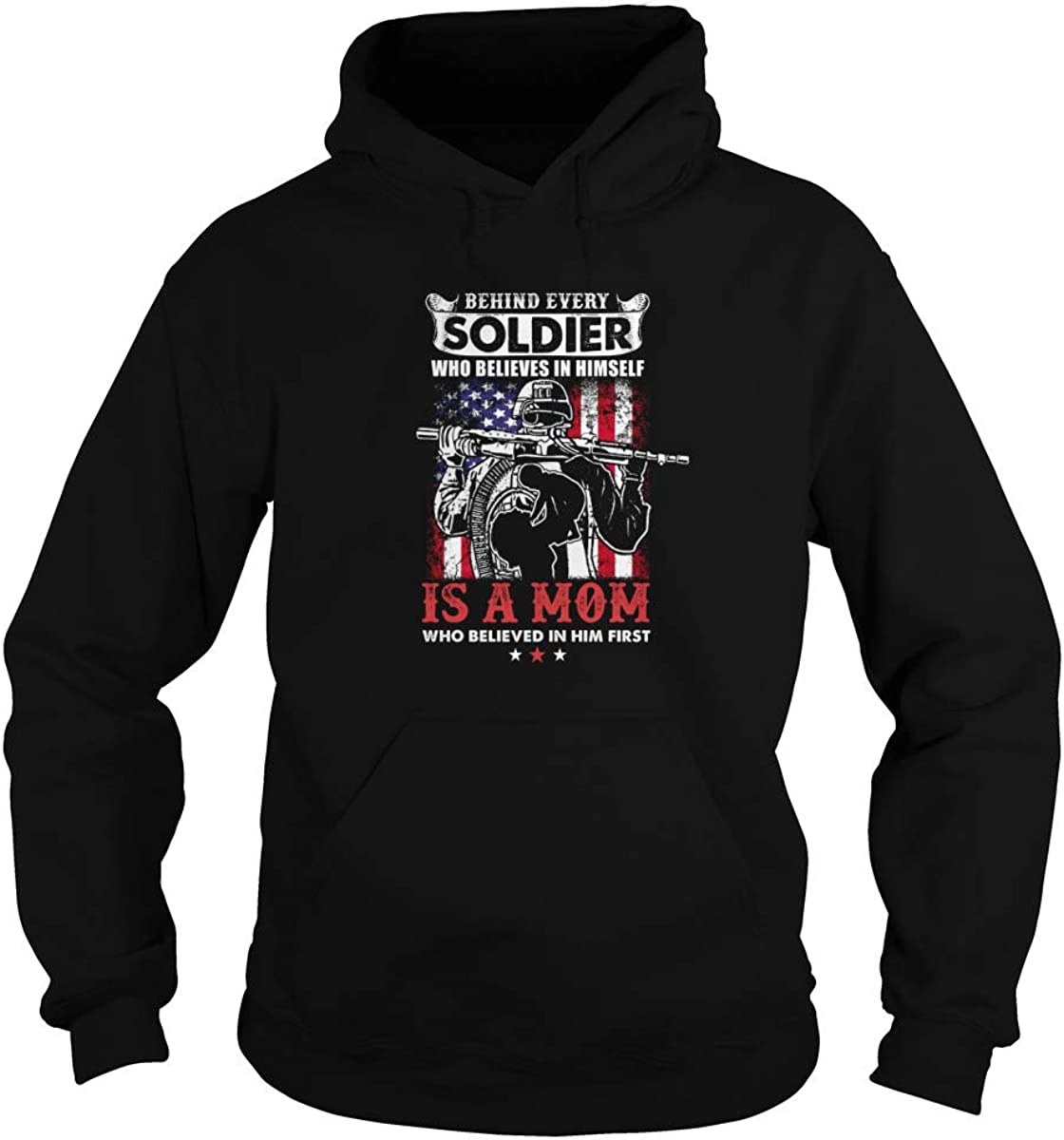 Max 83% OFF Behind Every Soldier Who Believes in Himself A Mom is T-Shirt Complete Free Shipping