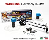 italian air horn - Marco XB2 12V Xtreme Blast Electric (Italian Quality, Heavy Duty, Extremely Loud. Dual Compressor. Horn with Chrome Plated Trumpets. 120 dB)