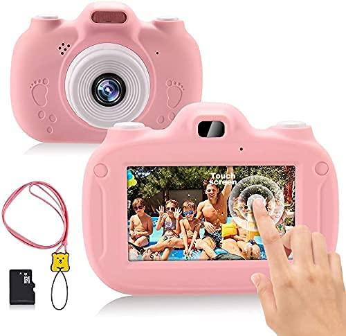 Appareil Photo pour Enfants, 3,0 Pouces HD écran Tactile et WiFi,1080P RechargeableJouets Mini Caméra Numérique avec Jeux, Jouet Cadeau d anniversaire de pour Les Enfants de 3 à 12 Ans