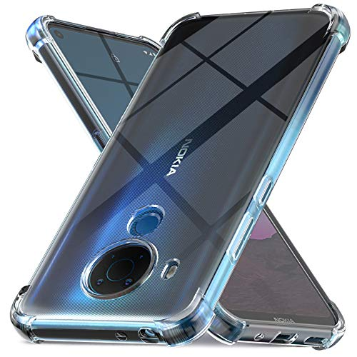 Ferilinso Funda para Nokia 5.4 / Nokia 3.4 [Transparente TPU Silicona Carcasa] [10X Anti-Amarilleo] [Compatible con la Cristal Templado Protector de Pantalla] [Anti-arañazos] [Fácil instalación]