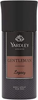 Yardley Gentleman Legacy Body Spray, Charismatic masculine fragrance with oriental woody notes, 150 ml