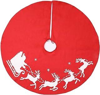 BESTOYARD Christmas Tree Skirt Felt Xmas snowmantree Base Decoration Apron wrap 100cm