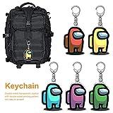 kati-way-123 Among us Porte-clés Set, Pendentif Acrylique Porte-clés pour clés de Voiture, Sac, Sac à Dos, téléphone Portable, pour Les Fans de Jeux (5 pièces)