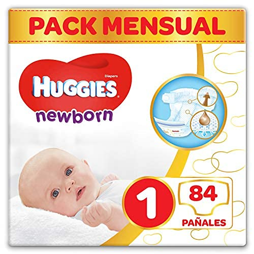 Huggies Newborn Pañales Recién Nacido Talla 1 (2-5...