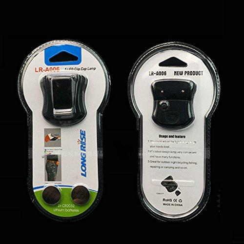 Produit neuf réglable à clipser 5 LED Head Cap Hat lumière Pêche lampe frontale lampe de poche sans batterie pour extérieur Pêche Camping Chasse