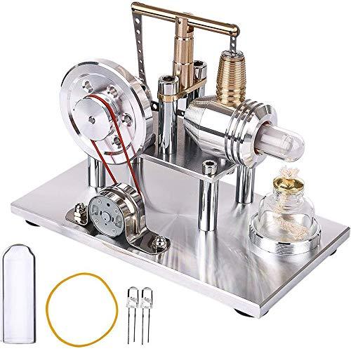 HPDOV Motor Stirling Kit Baja Temperatura Aire Caliente DIY Eléctrico Generador Motor Stirling Engine Juguete Educativo