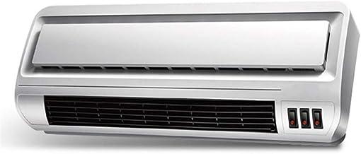 Zzq- Montado en la Pared Calefactor De Aire Caliente PTC Elemento De Cerámica Termoventiladores Función Silence Ahorro Energía Protección del Sobrecalentamiento para Habitación(2000W)