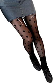 Womens Girls DDLIN Polka Dot Tights Pantyhose One Size