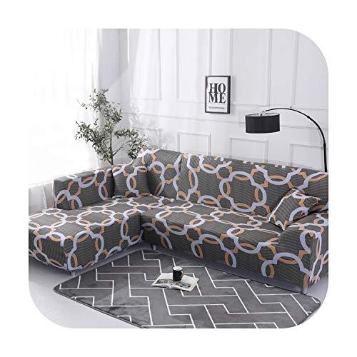 Funda de sofá en forma de L Wrap con funda de sofá antideslizante, funda de sofá para asiento, toalla de sofá simple/segundo/tres o cuatro asientos., K230, 2 Seat and 2 Seat