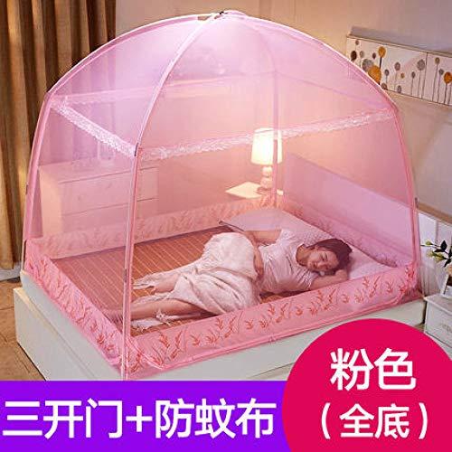 Opvouwbare Muggennetje Huishoudelijk Geel Roze Gaas Dubbel Bed Net Mongolië Muggennetten Hoge Kwaliteit Studenten Invoegen Tent roze
